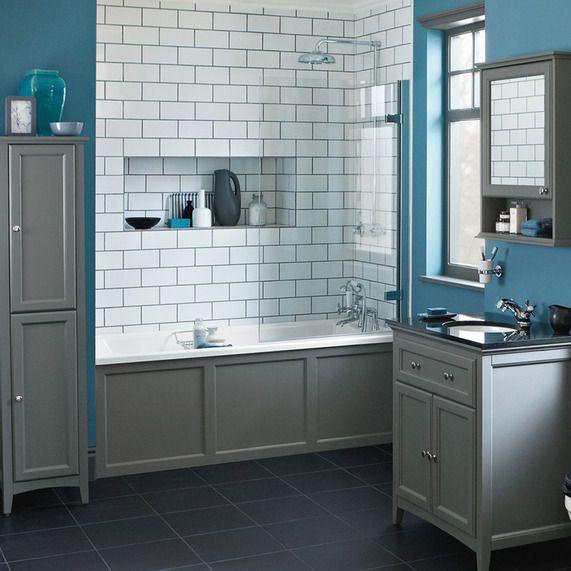 Savoy Charcoal Grey 1700 Side Bath Panel W1700 H550