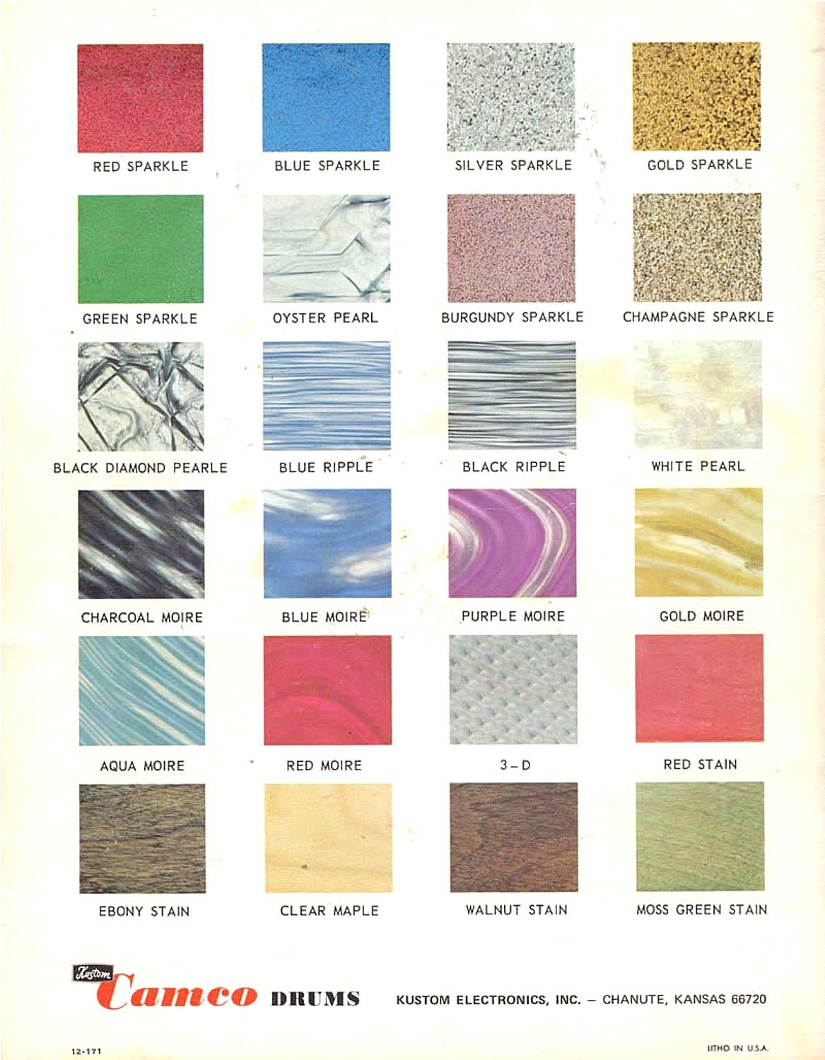 Catalogue Page Of Camco Drum Wraps Date Unknown Vintage Drums Camco Drums