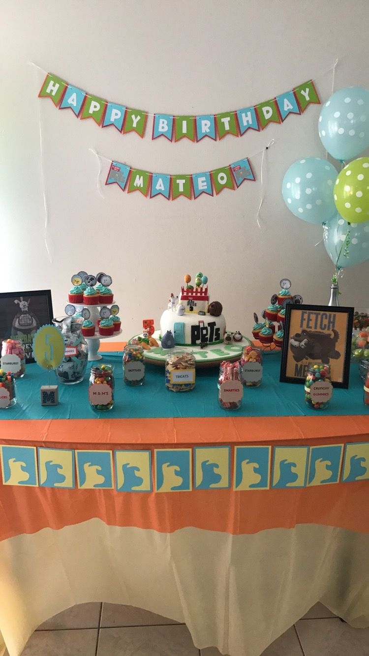 The Secret Life Of Pets Candy Bar Sofia The First Birthday Party
