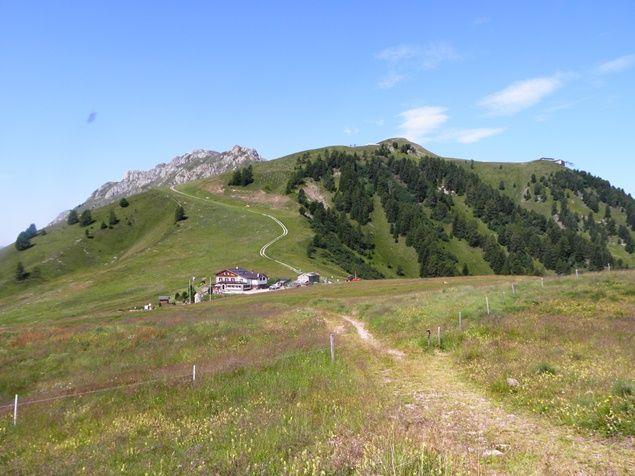 Il Passo Lusia e la cima Le Cune viste dal sentiero 633