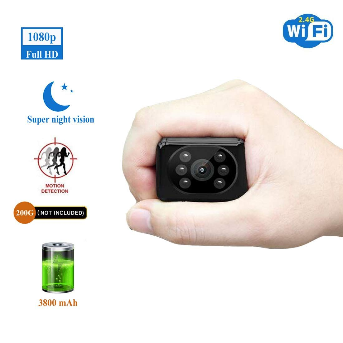 Spy Camera Wireless Hidden HD1080P WiFi Indoor Home Small