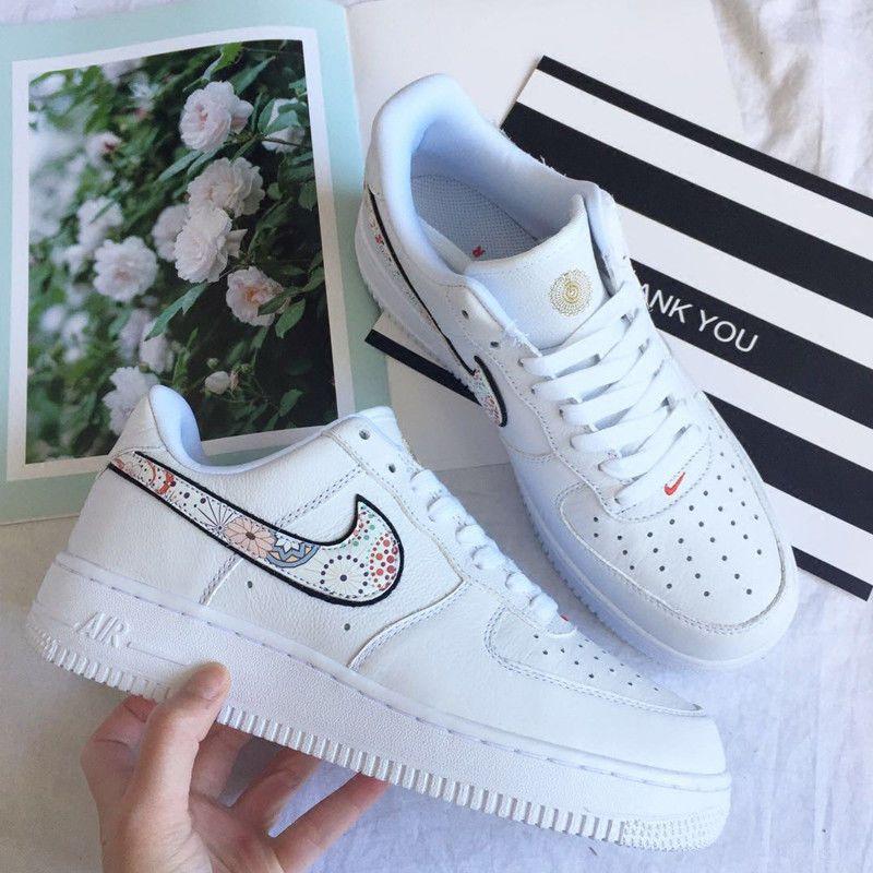 Nike Air Force 1 '07 Lny QS Lunar Year CNY White Jordan Multicolor Mens 10.5