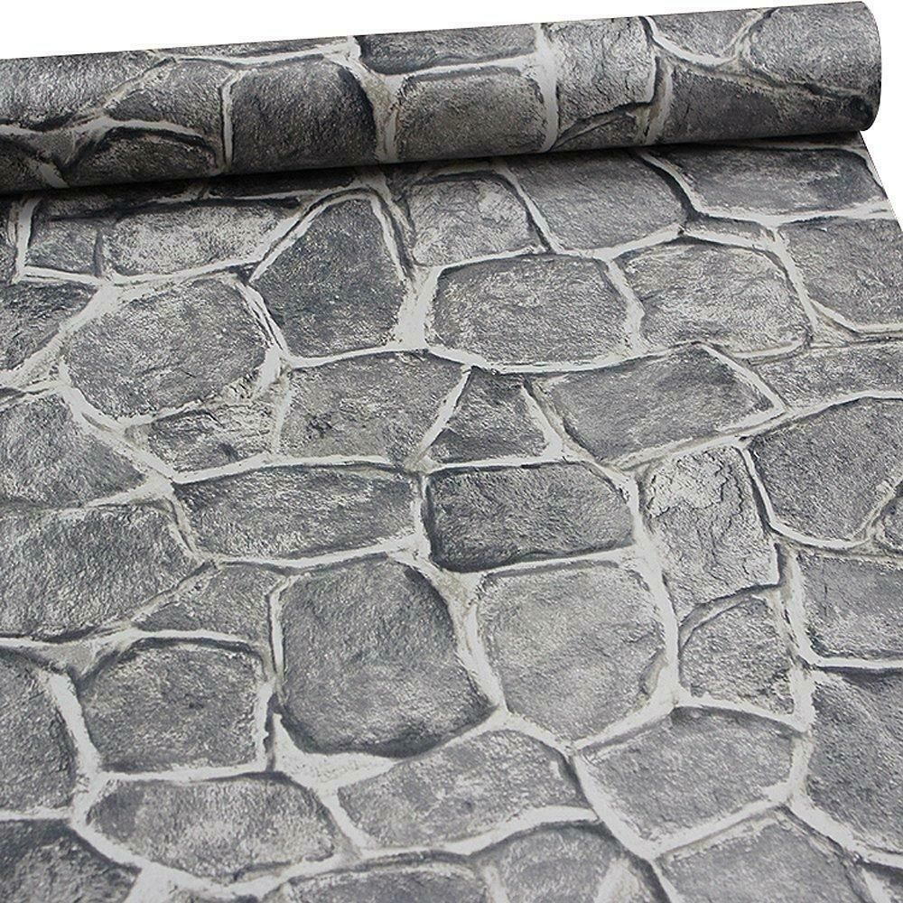 11 Yard Stone Wallpaper Peel And Stick Removable Castle Tower Brick Rock Wall Bathtubs Ideas Of Faux Stone Wallpaper Stone Wallpaper Grey Stone Wallpaper