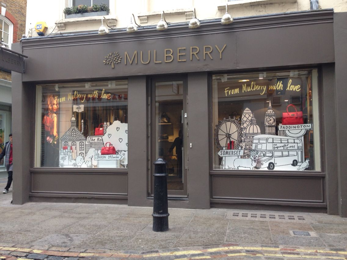 beee9c97f53 Covent Garden- This display was different then all the other Mulberrys I  went into because