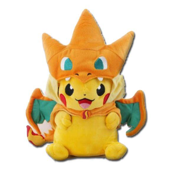 Get Pikachu Wearing Charizard Plush Toy 14 99 1 Shipping Pokemon Stuffed Animals Soft Toy Animals Pokemon Plush