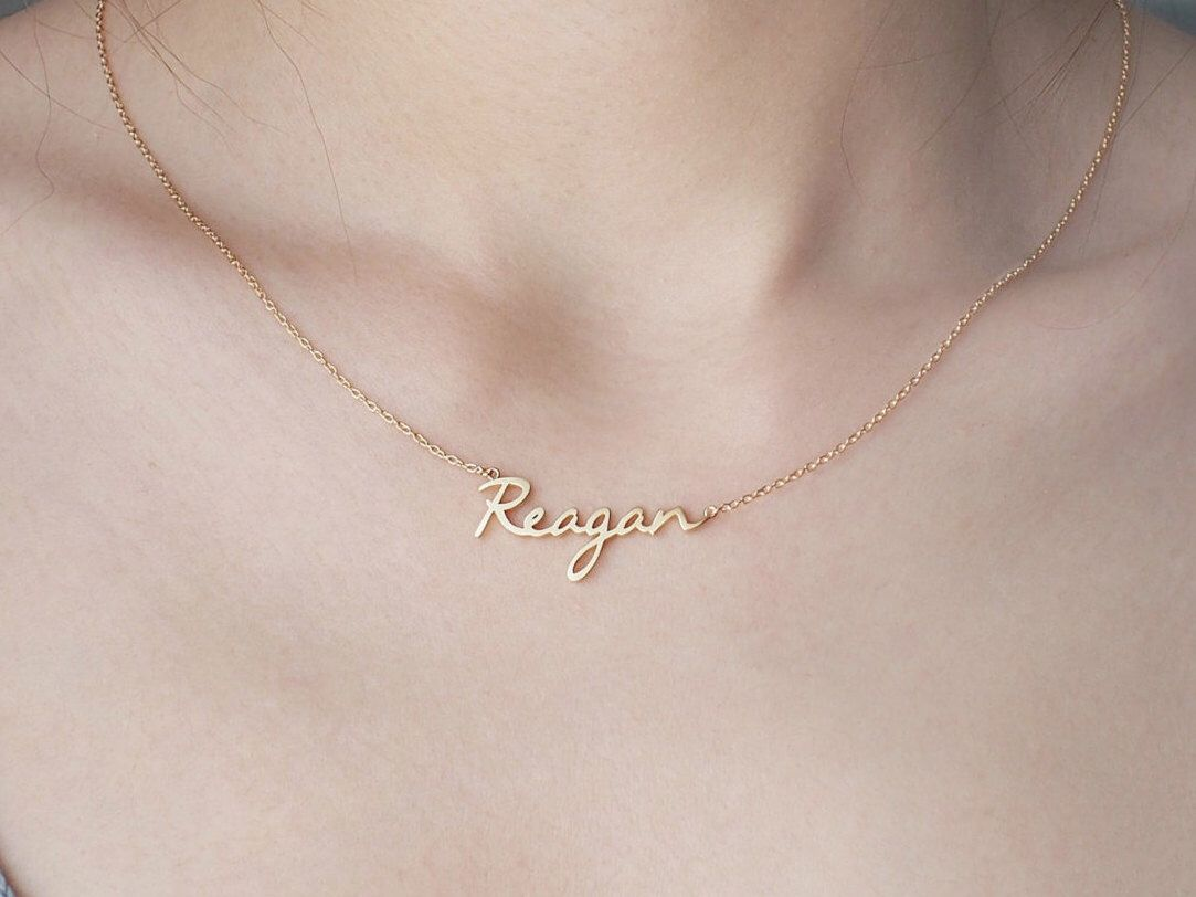 Custom name necklace personalized name necklace minimal name 20 off custom name necklace personalized name jewelry custom name gifts your aloadofball Image collections