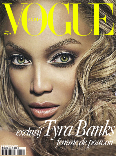 Image result for vogue magazine tyra banks