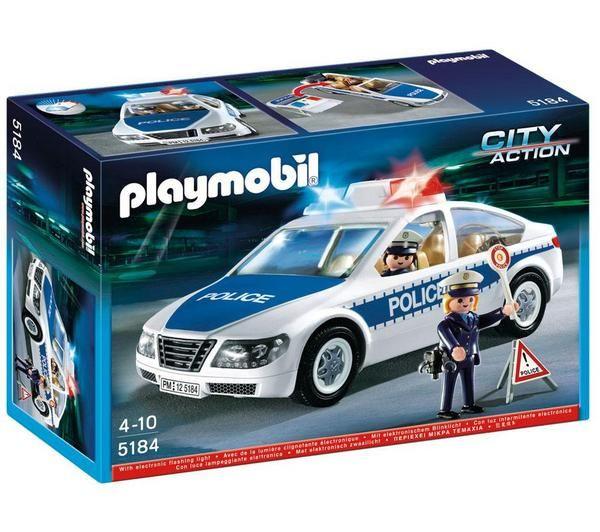 Playmobil Voiture Avec Lumières Policiers De Police Les 8PkwO0n