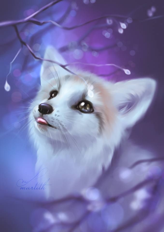 Pin By Loena On Foxes And Kitsune Cute Animal Drawings Anime Animals Cute Fantasy Creatures