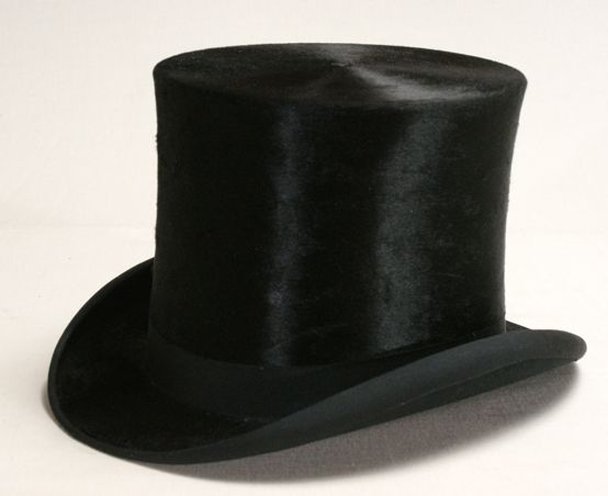 630cfc39 Top hat, made of beaver skin, leather and cloth, European American,  Indiana, USA, 1932