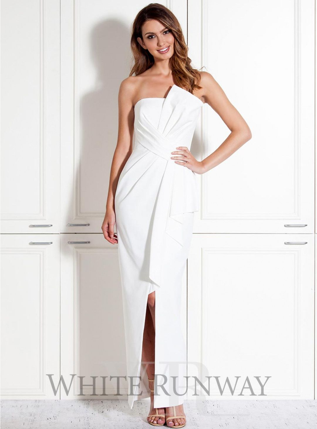 47fb37f31a Stellina Dress. A gorgeous full length dress by Australian designer Samantha  Rose. A strapless style featuring 3D ruffle on the neckline and waist.
