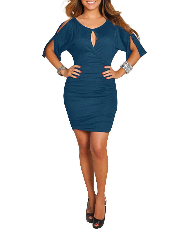 Biubiu Womens Cold Shoulder Bodycon Bandage Club Party Midi Dress Turquoise 2xl Read More Revi Midi Dress Party Midi Dress With Sleeves Alternative Outfits [ 1500 x 1200 Pixel ]