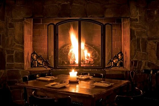 Warm Up With A Fireplace This Winter Restaurant Fireplace Fireplace Rustic Cabin