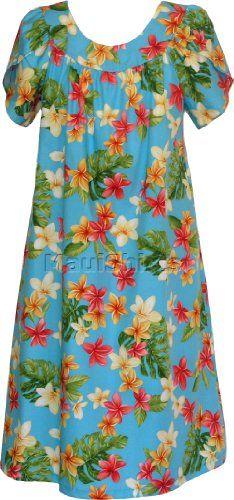 67a8bb3918b MuuMuu House Dress - Red Yellow Plumeria Petal Sleeves Caftan Kaftan  Hawaiian Aloha Pullover Lounger - Regular and Plus Size  45.60