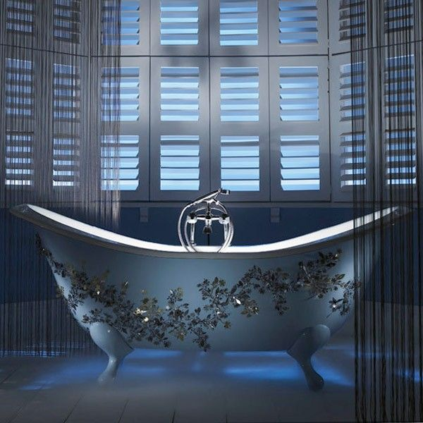 Imperial Sheraton Double Ended Cast Iron Slipper Bath With Ball G ...