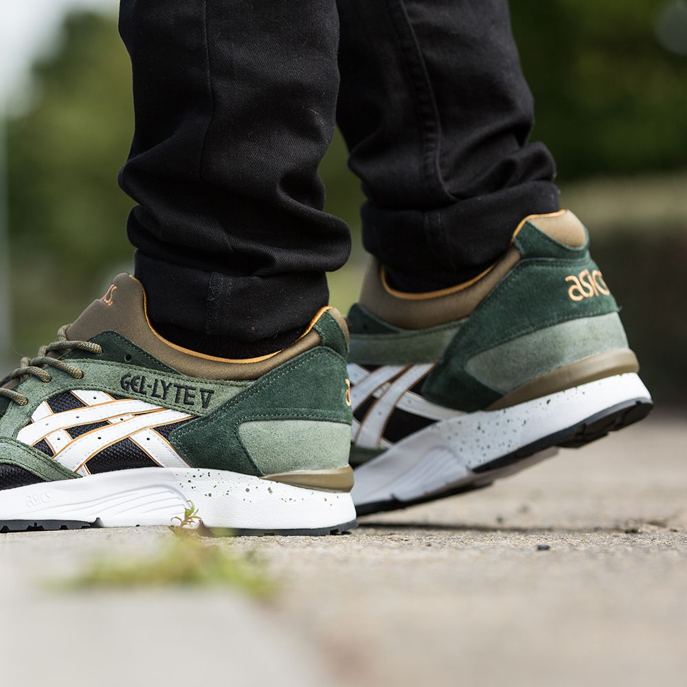 plus récent 3e97e 8a13d asics gel lyte 5 tropical vert granite