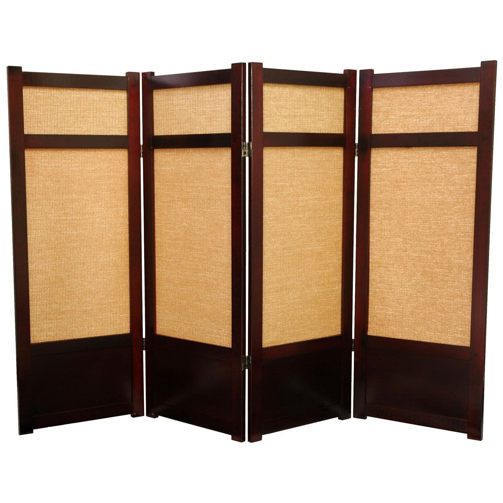 Oriental Furniture Low Jute Fiber Shoji Screen Room Divider - 48H in. | from hayneedle.com