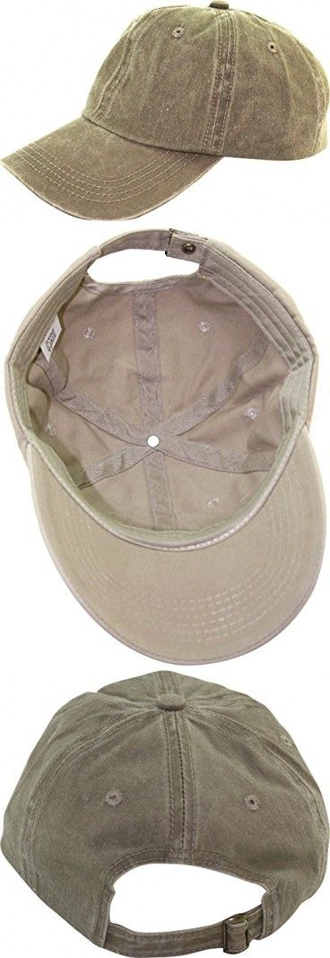 Washed Cotton Baseball Cap (One Size 51d5f2dc5e4a