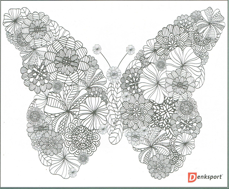 Vlinder Kleuren Kleurplaten Voor Volwassenen Vlinders