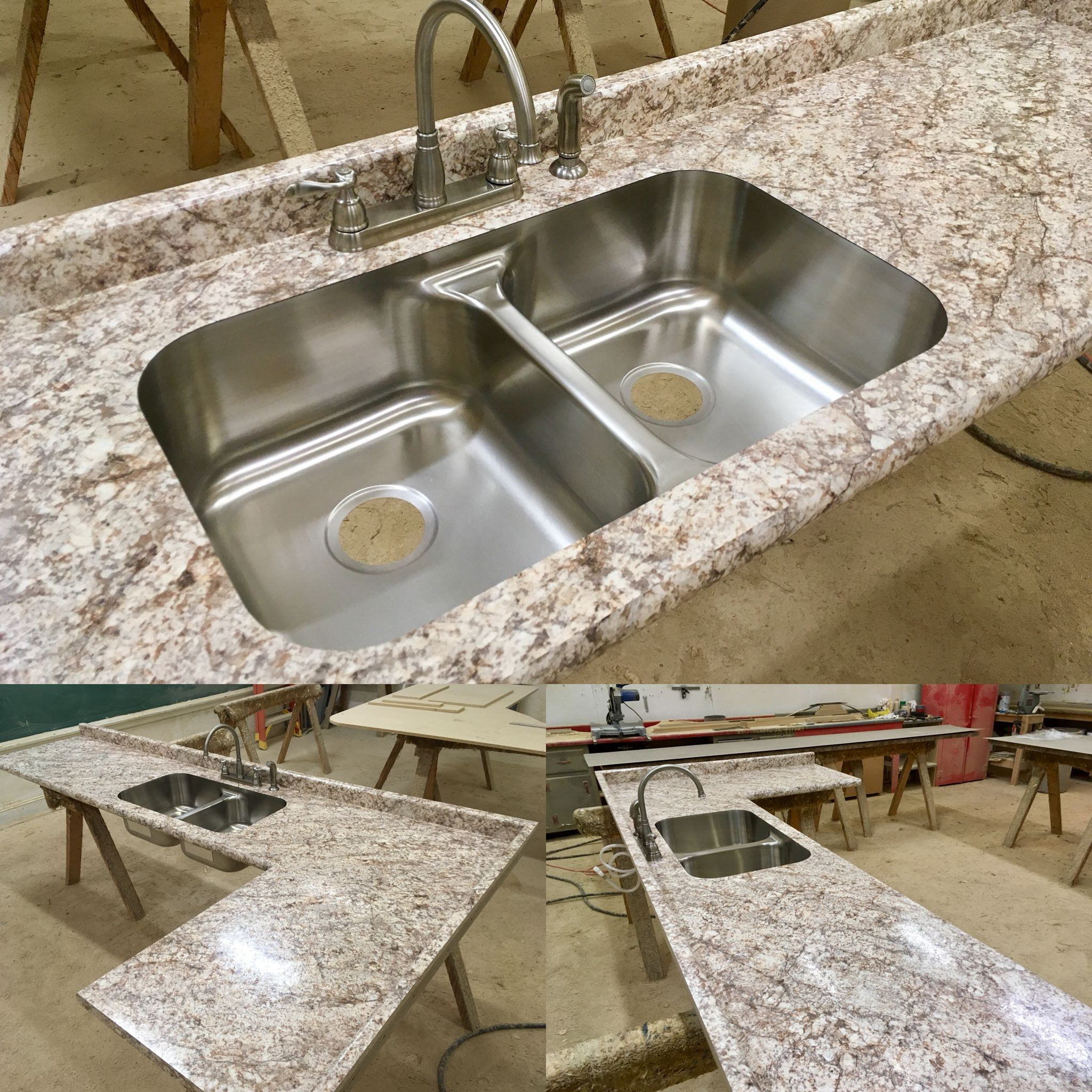 Check Out This All Custom Laminate Countertop Manufactured Here At Poney S This Is In Bianco Wilsonart Laminate Countertops Laminate Countertops Countertops