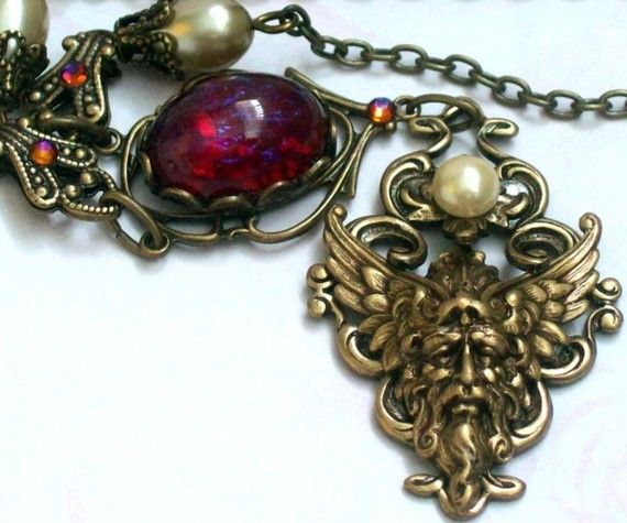 Passions of a Lady brass filigree and carnival by PeacockTresChic