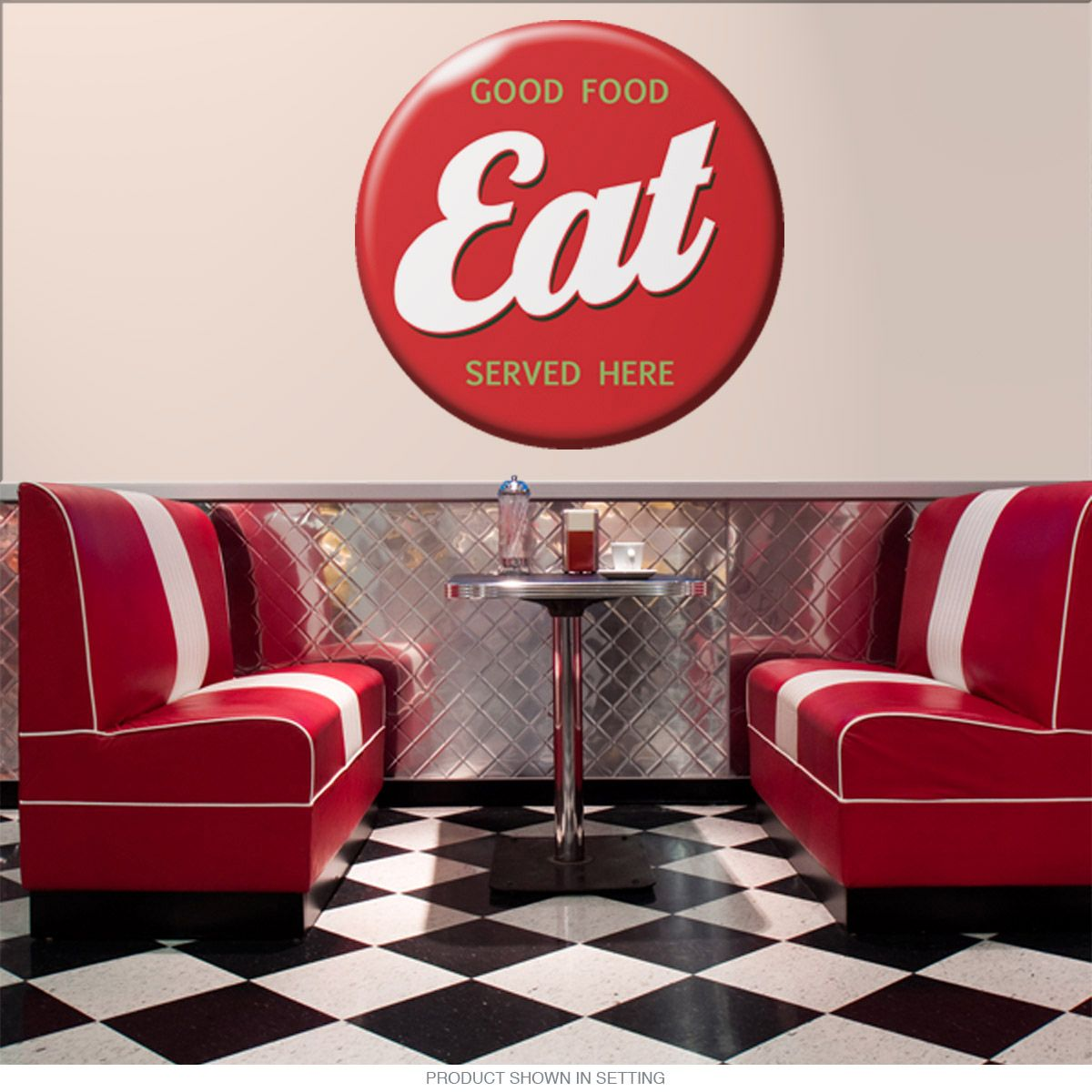 Eat Good Food Served Here Wall Decal Diner Wall Decor