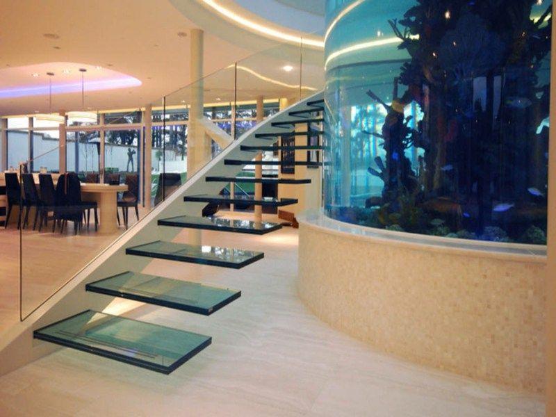 50 beispiele f r moderne treppen aus glas moderne treppe. Black Bedroom Furniture Sets. Home Design Ideas