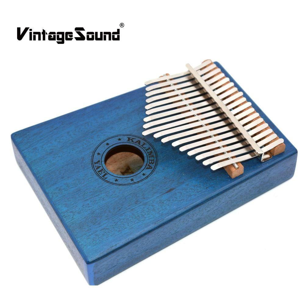 10 key kalimba african solid mahogany body thumb finger