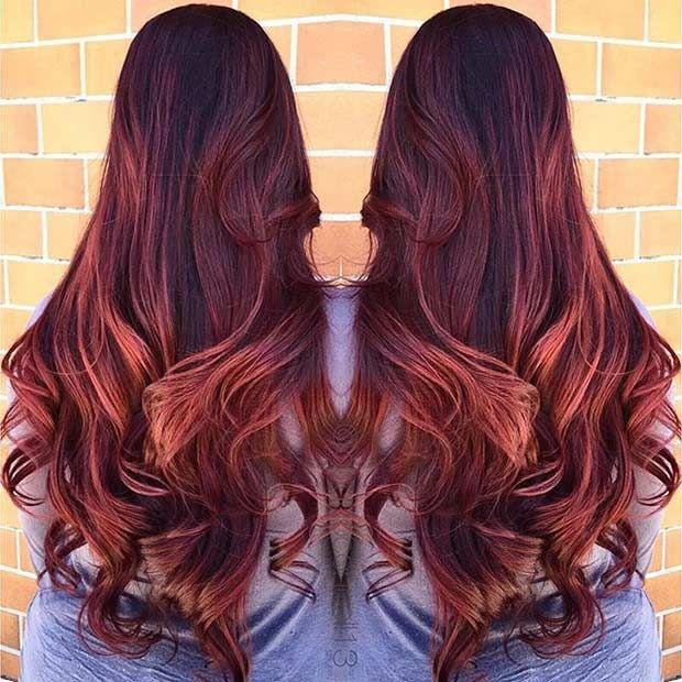 21 Amazing Dark Red Hair Color Ideas Dark Red Hair Copper