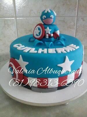 Bolo capitão América Baby