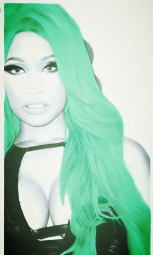 Nicki Minaj. Mint lime.
