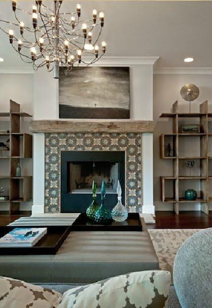 Manteau de foyer 10 inspirations chaleureuses et for Decoration foyer electrique et television
