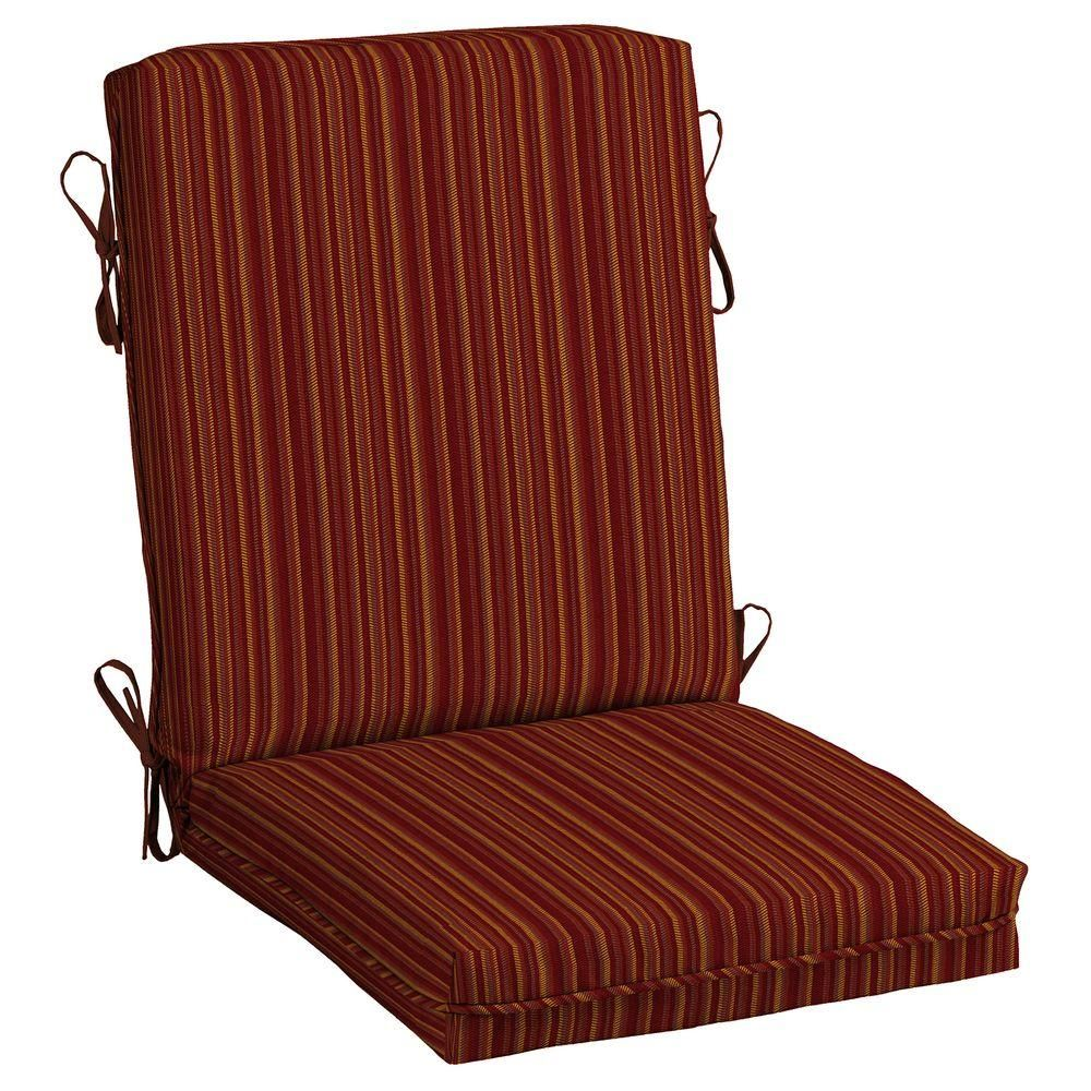 Hampton Bay Harris Southwest Outdoor Dining Chair Cushion | Dining ...