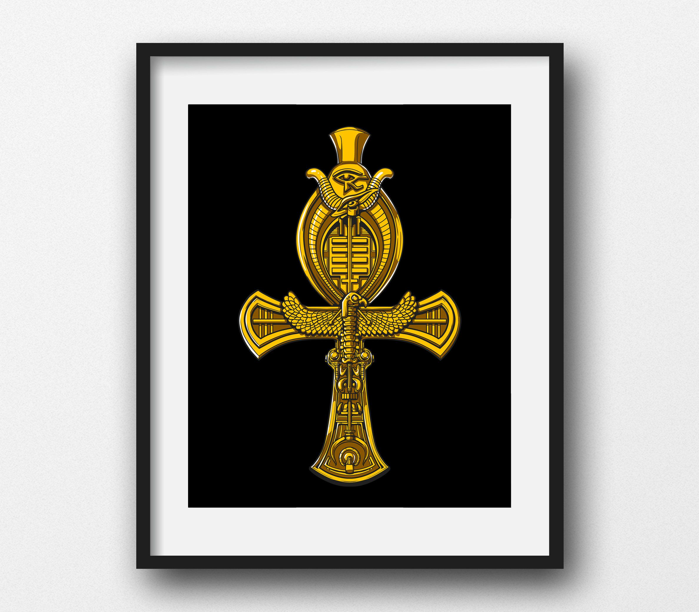 Ankh Cross Canvas Poster