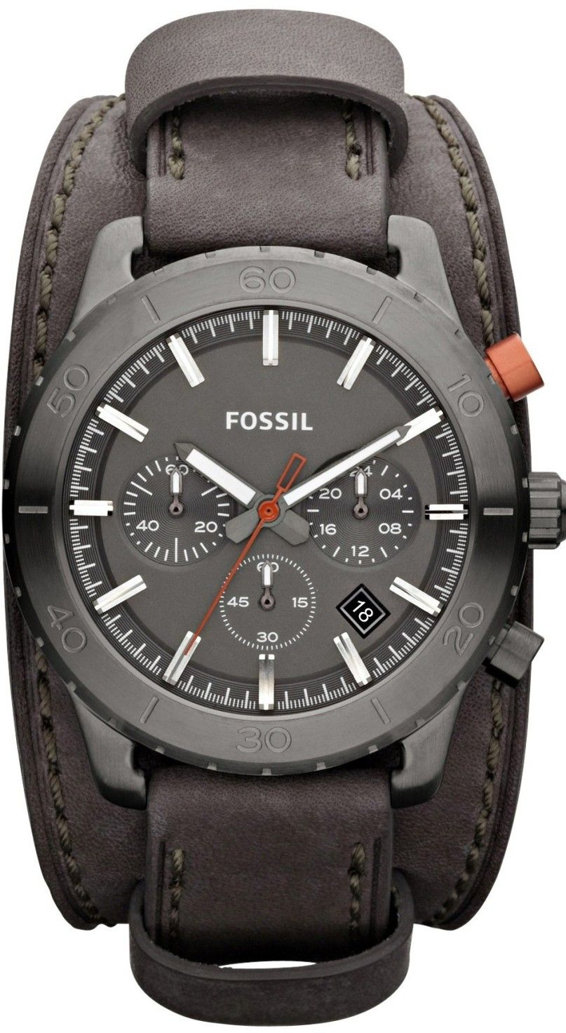 59f54b2ba213 FOSSIL Keaton Chronograph Leather Watch Grey JR1418    99.89   Fossil Watch  Men