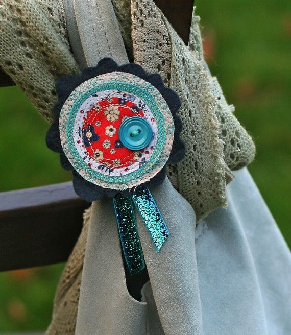 felt and fabric corsage pin