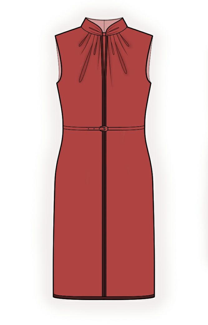 Dress Sewing Pattern 4313 Made To Measure Sewing Pattern From