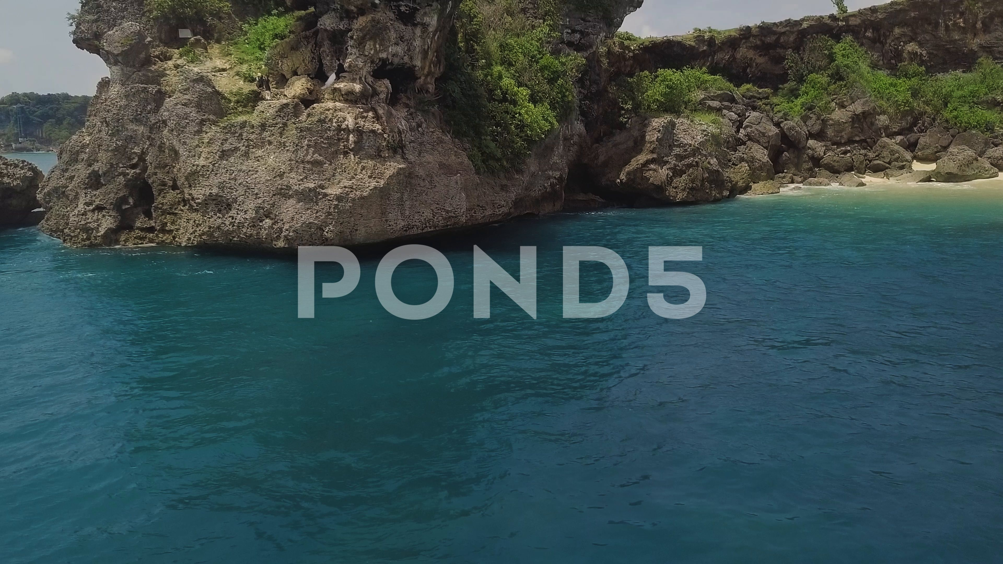 Aerial View Blue Sea Water And Rocky Cliff Landscape Beautiful View From Drone Stock Footage Ad Sea Water Rocky Aerial Aerial View Blue Sea Beautiful Views