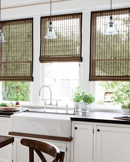 Bamboo Blinds Are Still Ideal For Capturing A Modern Yet