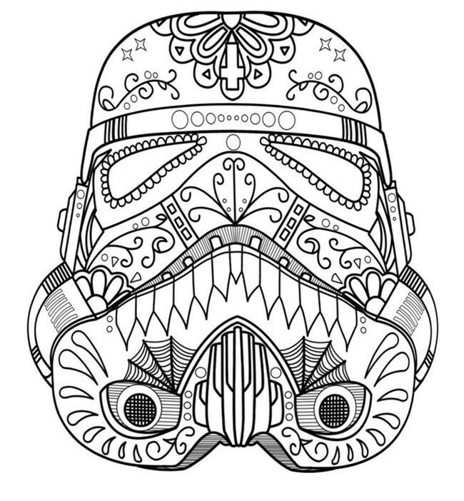 Storm Trooper Day Of The Dead With Images Skull Coloring Pages