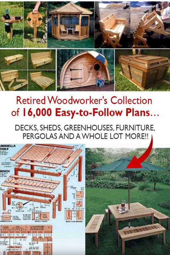Huge collection of plans for stunning woodworking projects including decks sheds greenhouses tables chairs beds pergolas and a whole lot more #smallwoodcrafts #woodworkingprojectschair