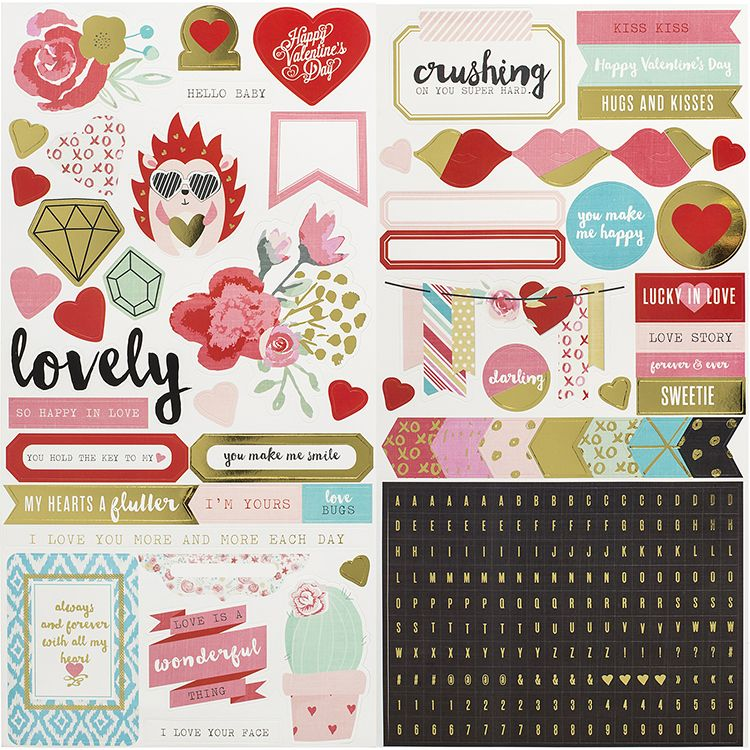 We R Memory Keepers Crush Stickers
