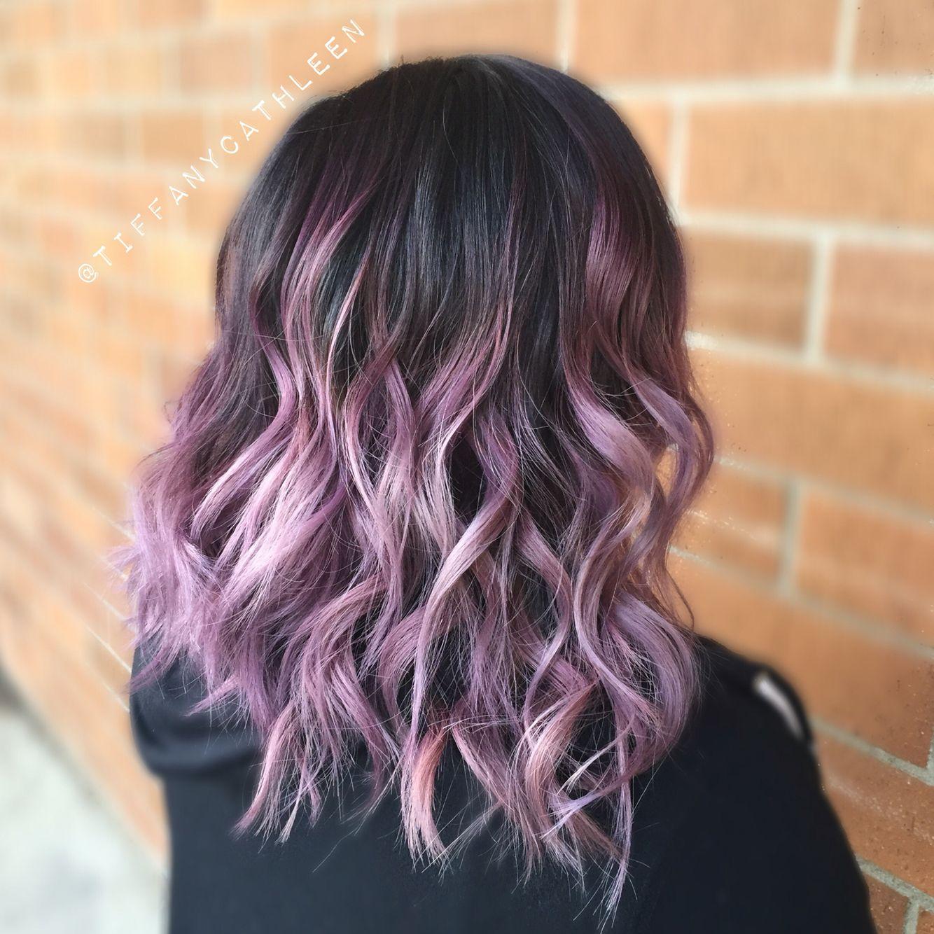 smoky lavender balayage ombr