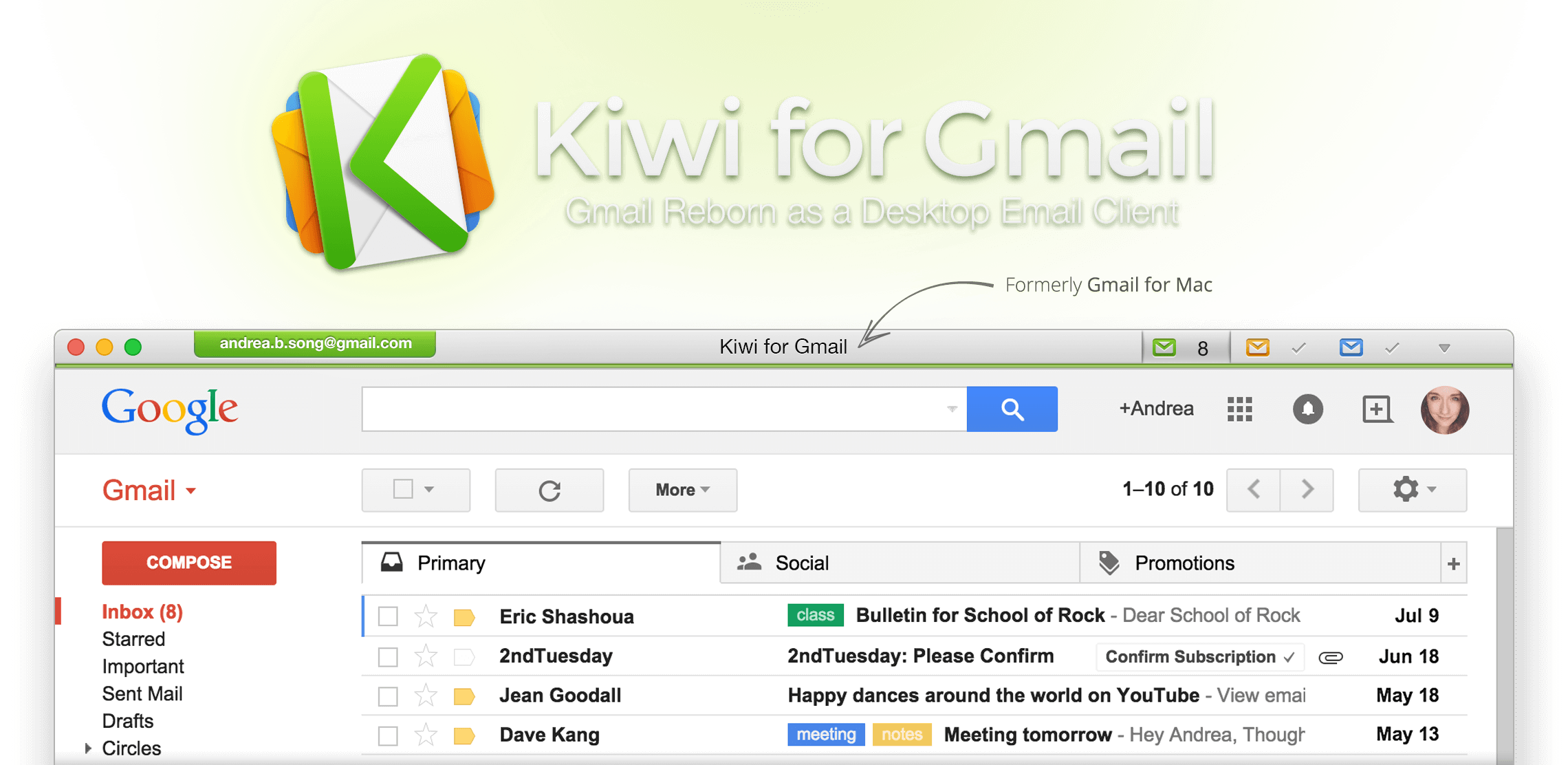 Kiwi for Gmail Email client
