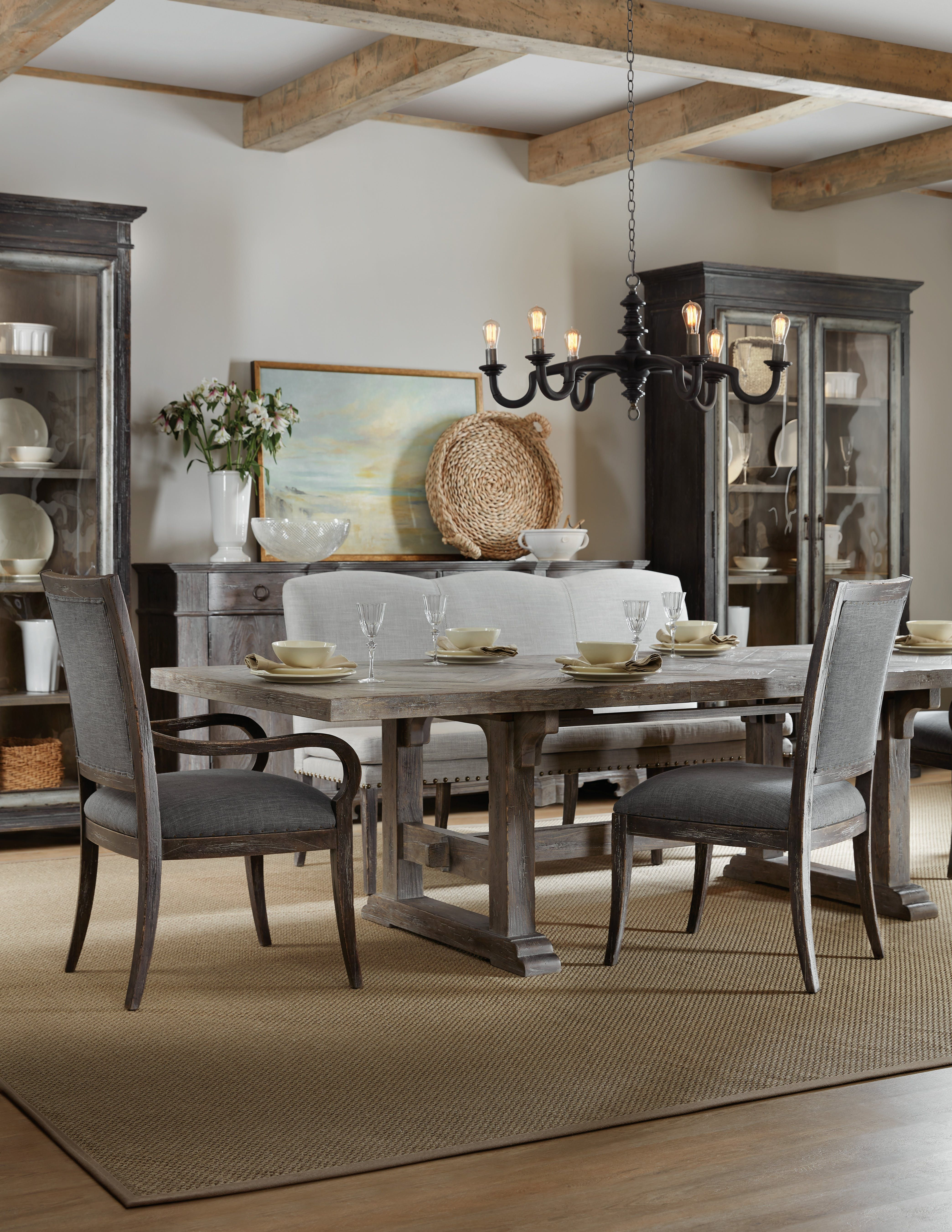 Hooker Furniture Dining Room Beaumont 84in Rectangular Table W 2 22in Leaves 5751 75200 95