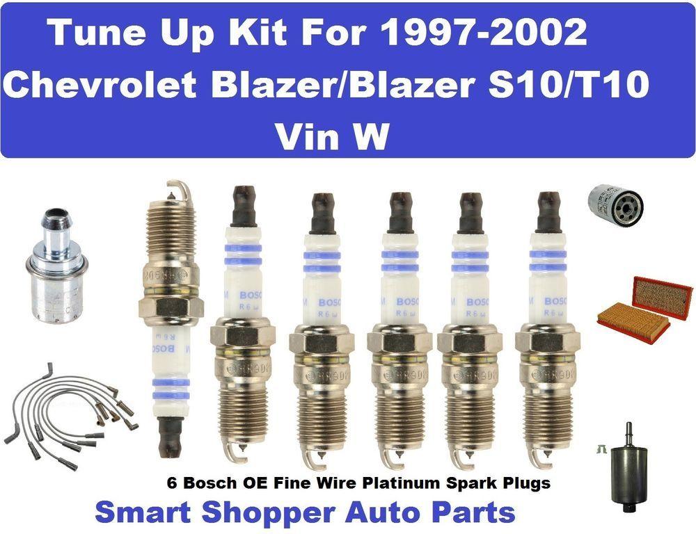 Spark Plug, Wire Set, Filter For 97-02 Chevrolet Blazer/Blazer S10 ...