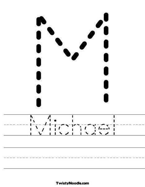 Michael Worksheet From Twistynoodle Com Preschool Names Preschool Writing Preschool Learning Printable preschool name worksheets