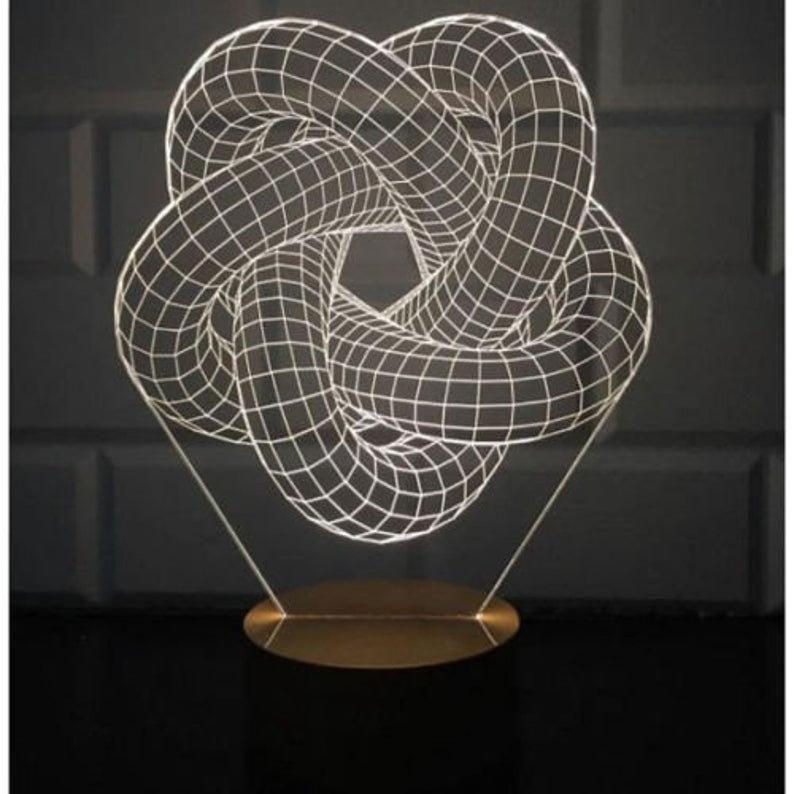 54 Lampe 3d Led Nuit Lumiere Vector 3d Illusion Acrylique Pdf Etsy 3d Illusions 3d Night Light Illusions
