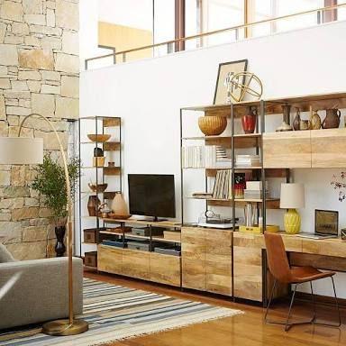 Image Result For West Elm Industrial Rustic Home Offices Home Office Design Home Office Furniture