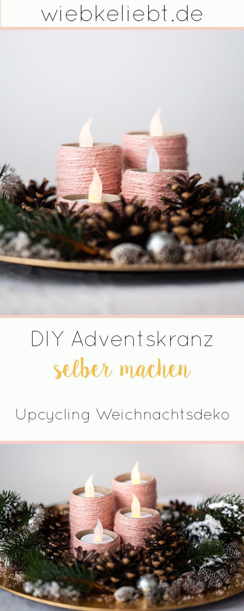 Photo of Adventskranz aus Klopapierrollen basteln – DIY Weihnachten   DIY Blog   Do-it-yourself Anleitungen zum Selbermachen   Wiebkeliebt